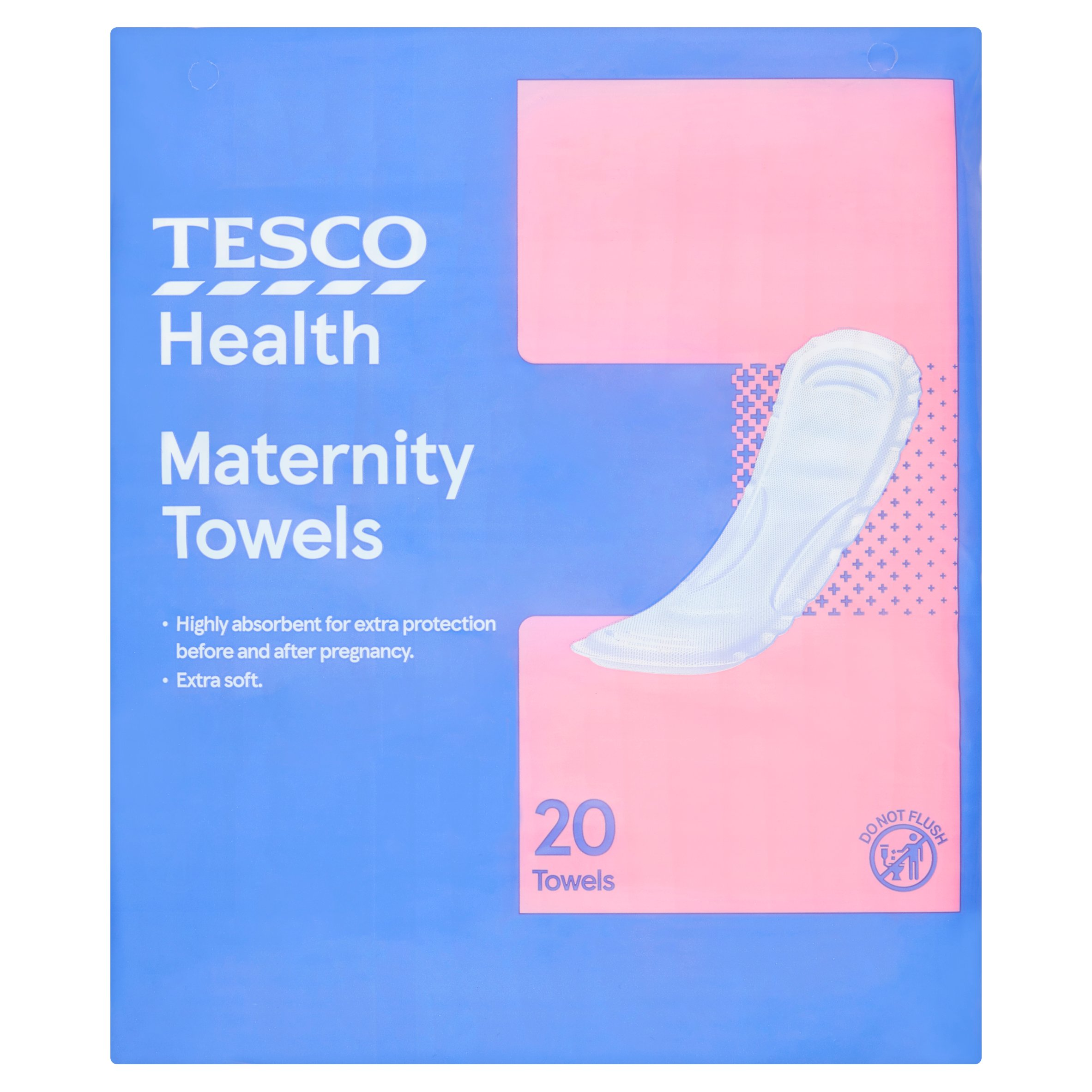 Tesco Maternity Towel 20 Pack