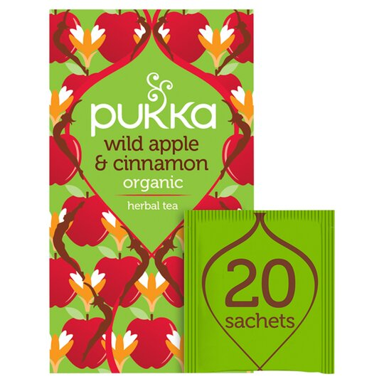 Pukka Organic Spiced Apple Cinnamon Plus Ginger 20 Tea Bags 40G