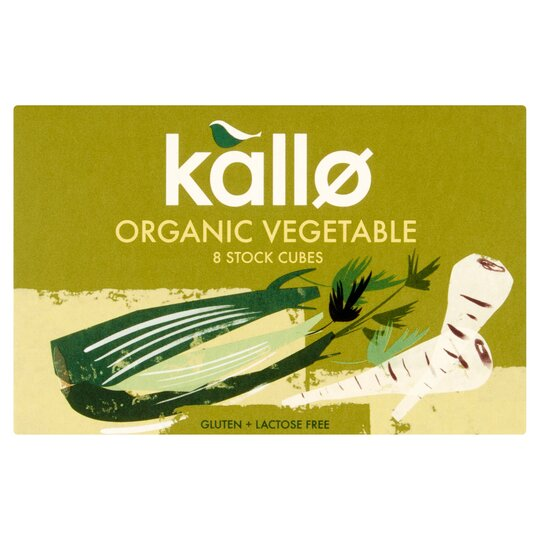 Kallo Organic Vegetable Stock Cubes 8Pk 88G