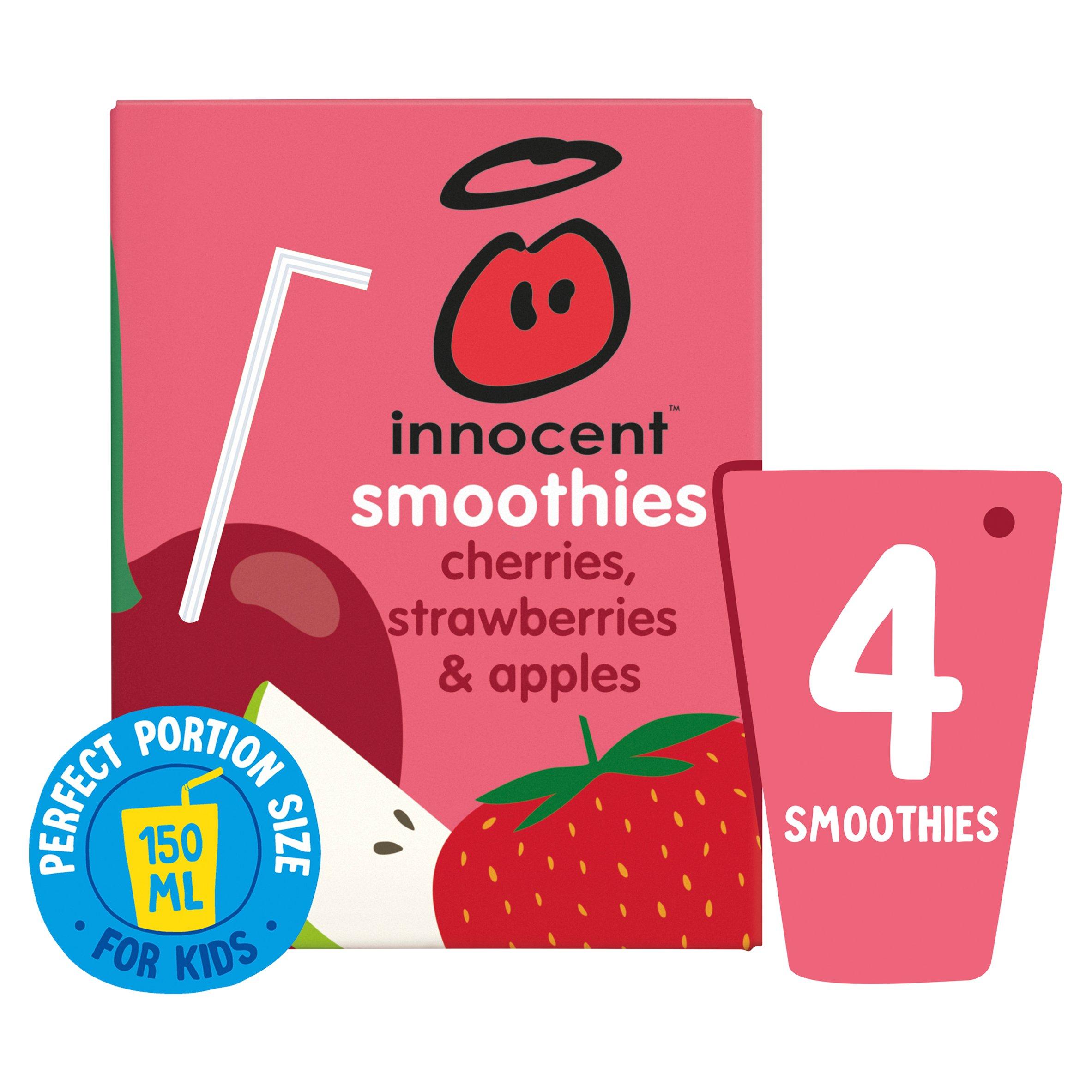 Innocent Kids Smoothie Cherries Strawberries 4X150ml