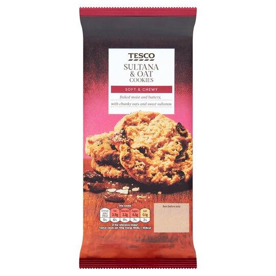 Tesco Sultana Oat Cookies 200g Tesco Groceries