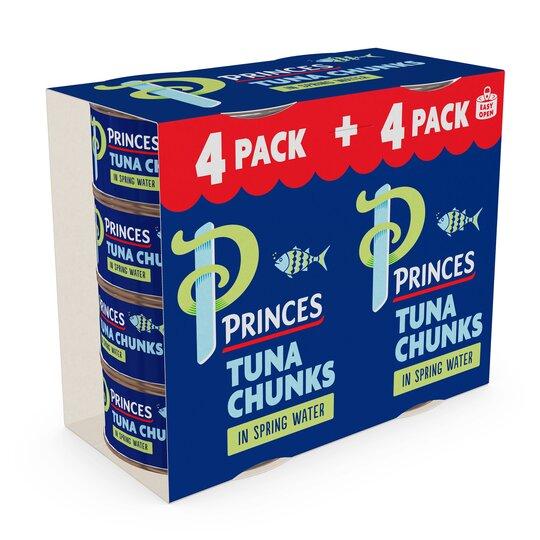 Princes Tuna Chunks In Spring Water 8 X 145G