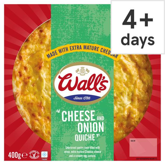 Wall's Cheese & Onion Quiche 400G