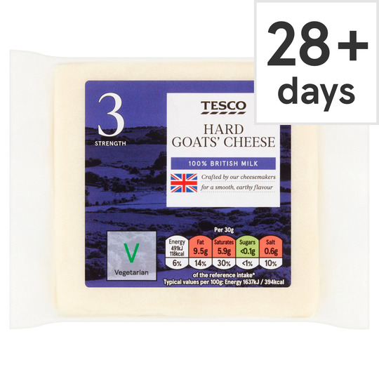 Tesco British Hard Goats Cheese 200G