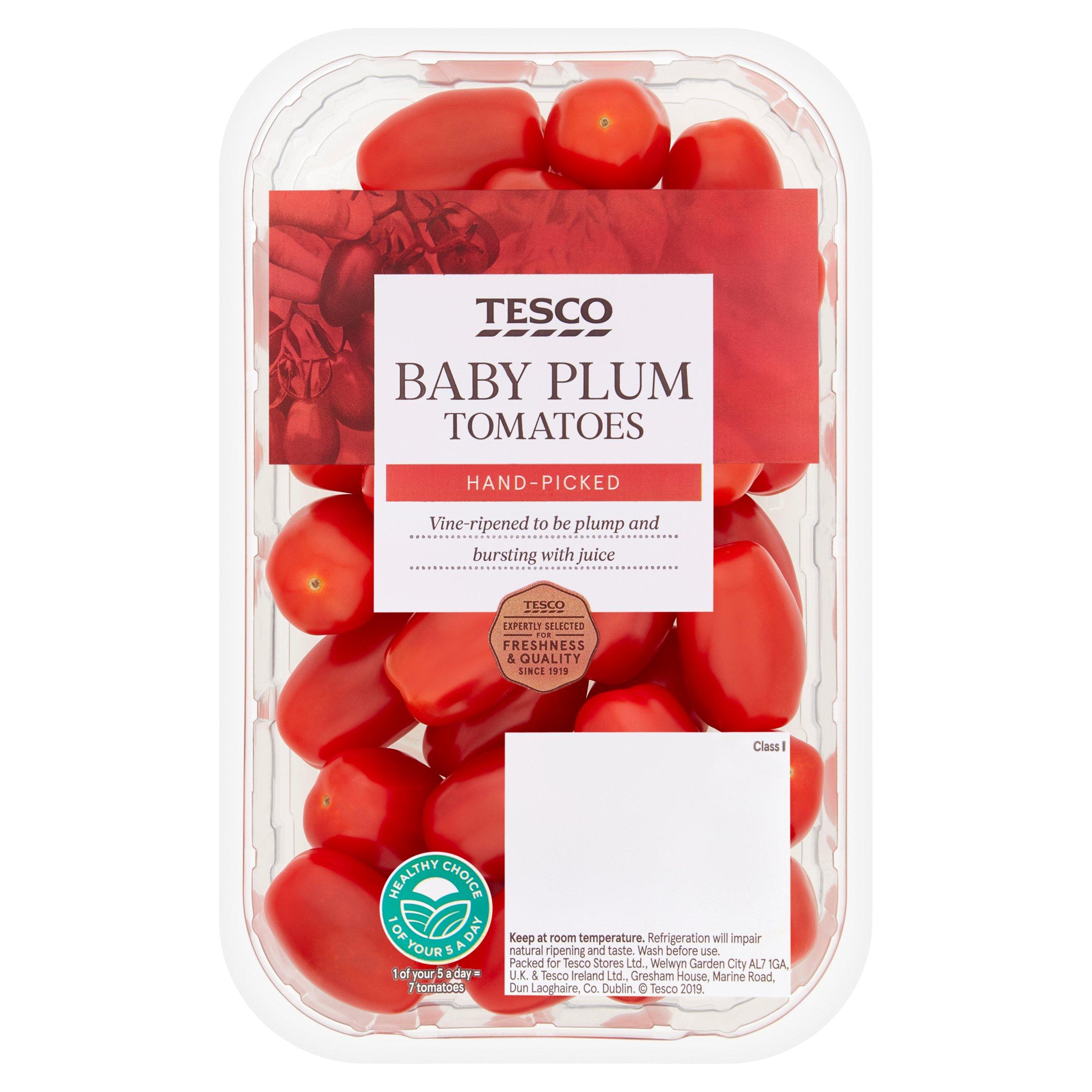Tesco Baby Plum Tomatoes 325G