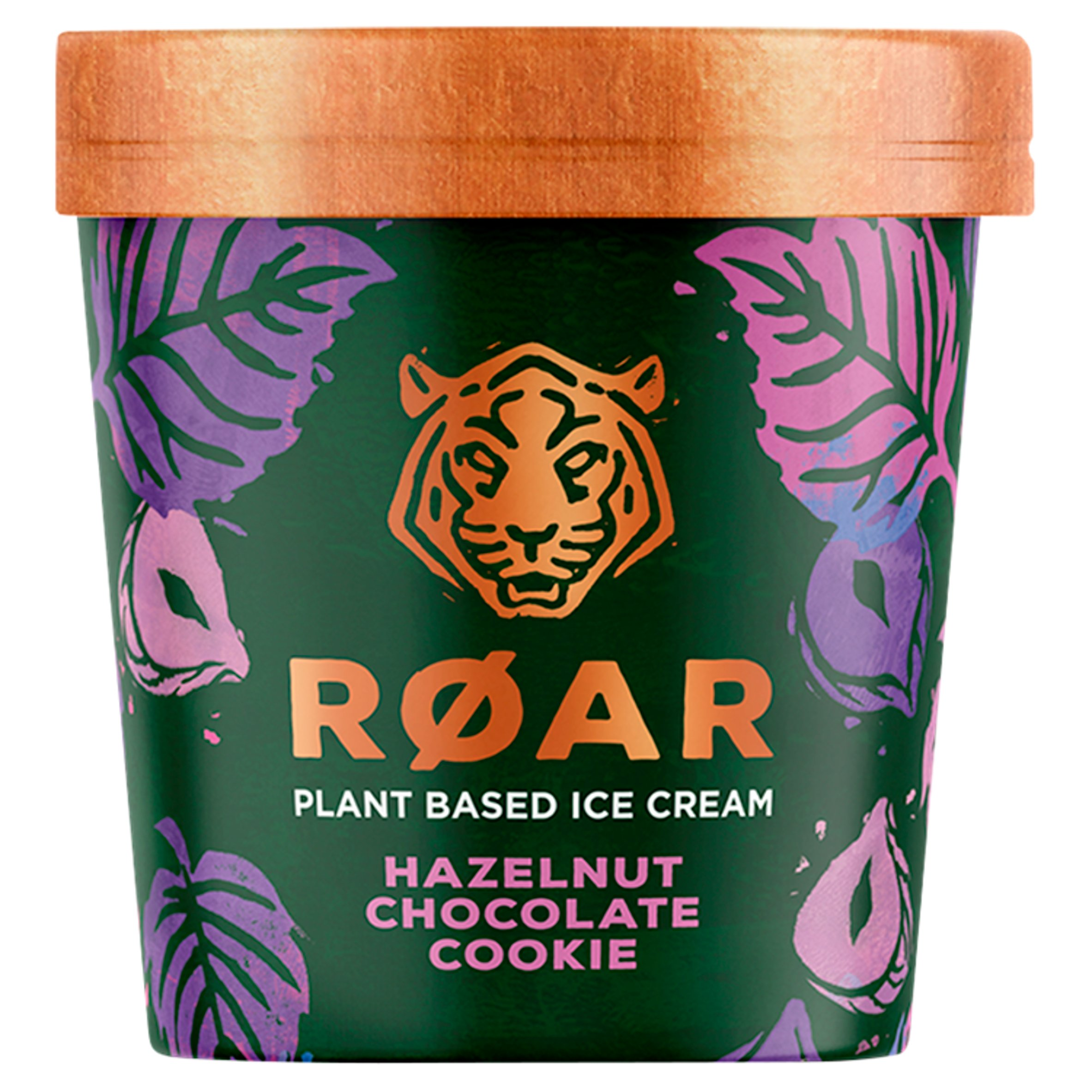 Roar Hazelnut Chocolate Cookie Plant Based Ice Cream 500Ml