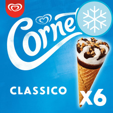 image 1 of Cornetto Classic Ice Cream Cones 6X90ml