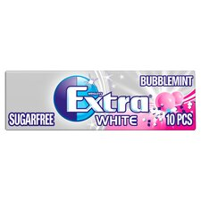 image 2 of Extra White Bubblemint Gum 10 Pieces