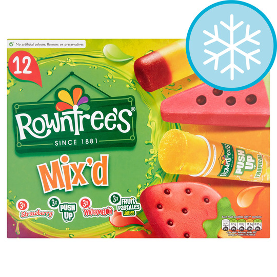 Rowntrees Mixd Lollies 12 Pack 873Ml