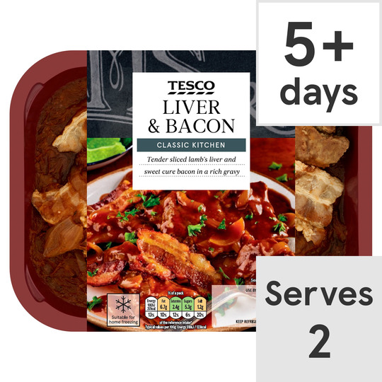 Tesco Liver & Bacon 450G