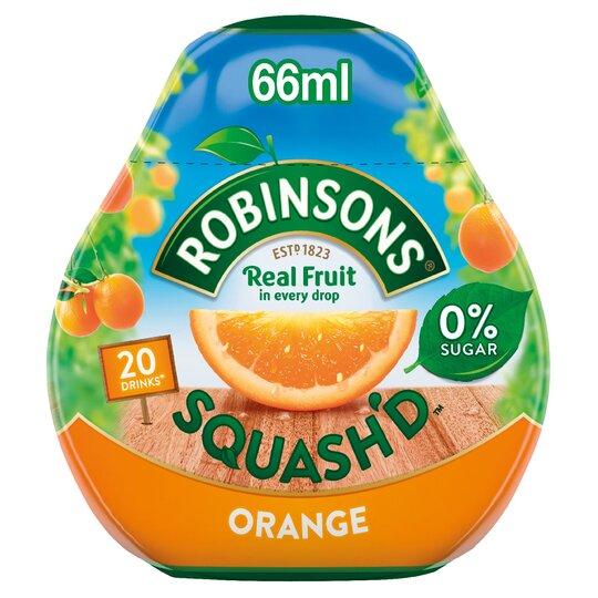 Robs Squash'd Orange No Added Sugar 66Ml