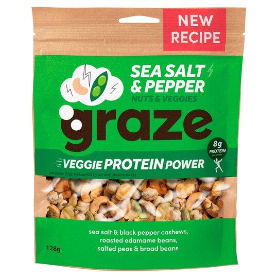 Graze Sea Salt & Pepper Veggie Protein Power 128G