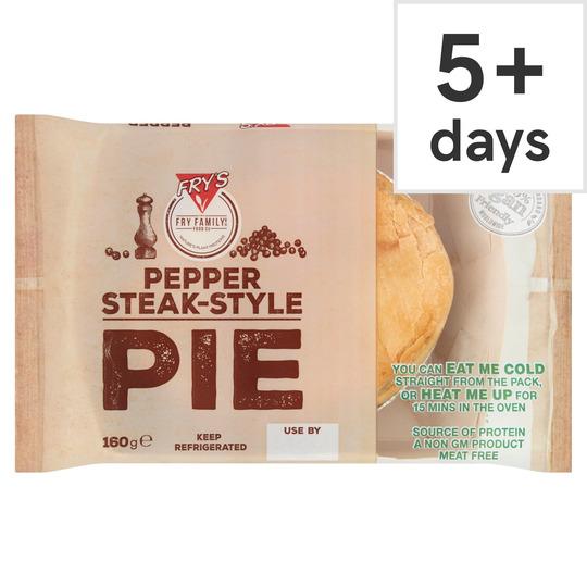 Fry's Meat Free Pepper Steak Style Pie 160G