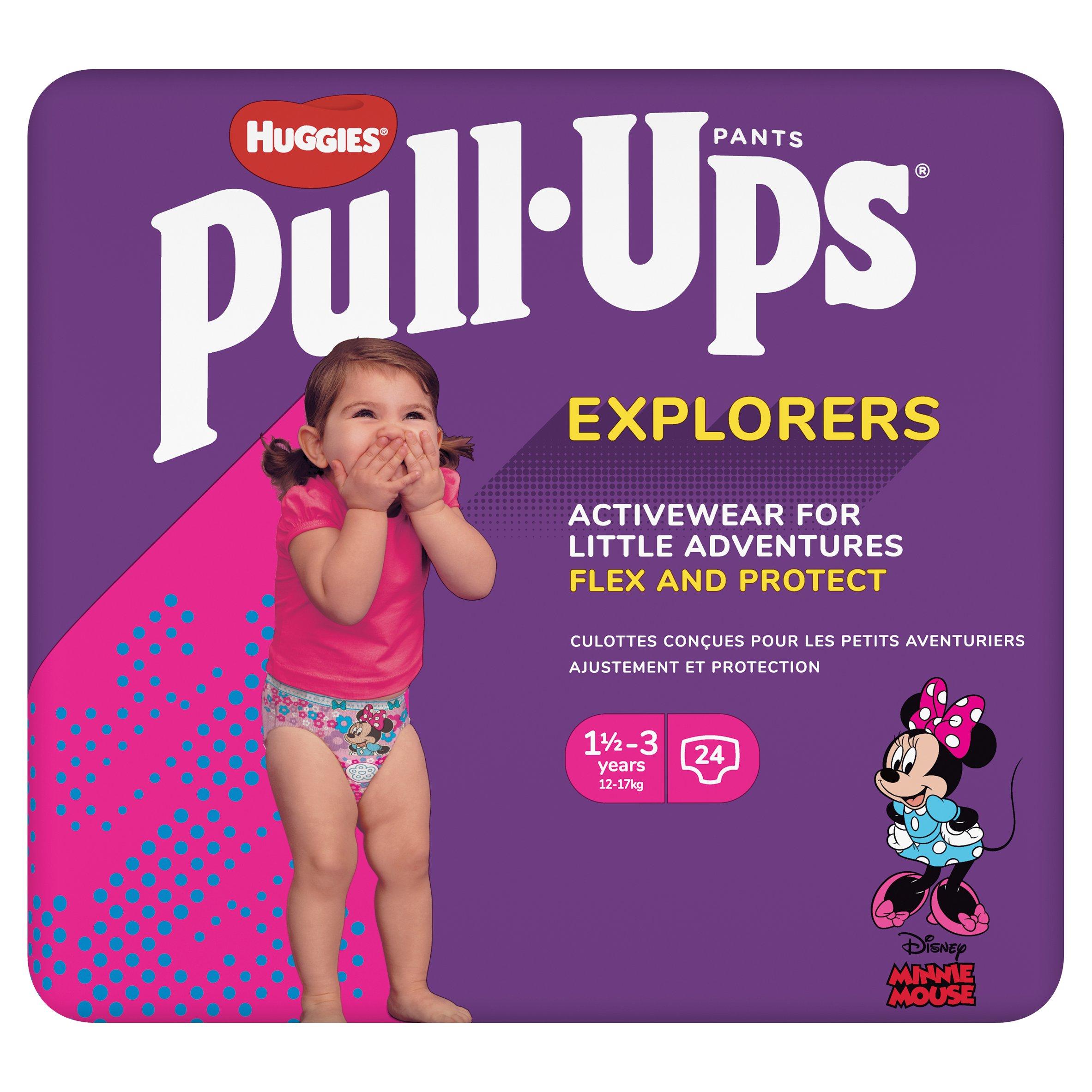 Huggies Pull Ups Explorers 1.5-3 Years Pink 24 Pack