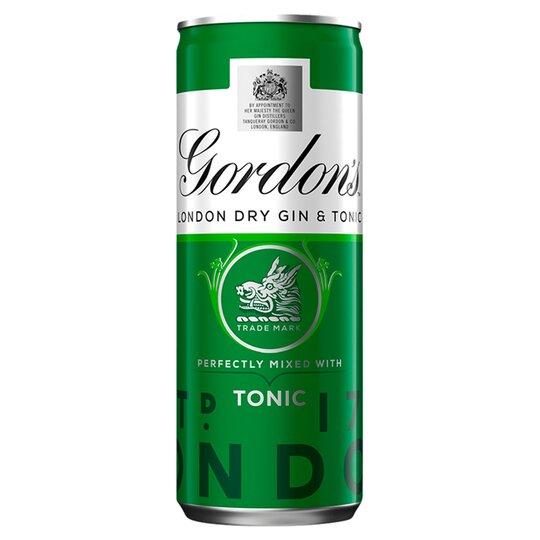 image 1 of Gordon's Gin &Tonic 250Ml Can