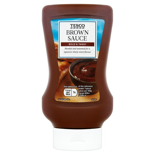 Tesco Squeezy Top Down Brown Sauce 480g