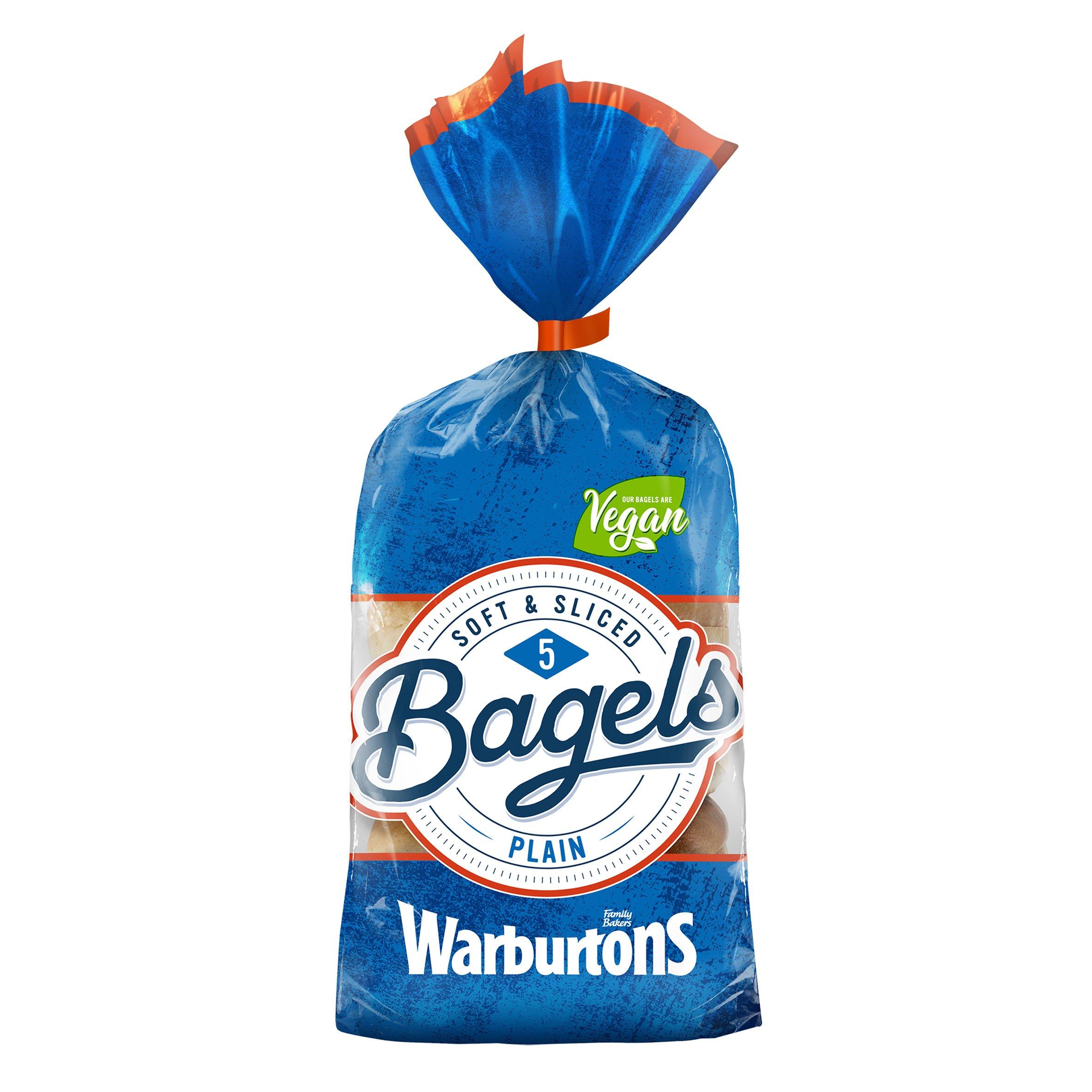 Warburtons 5 Pack Bagels Plain