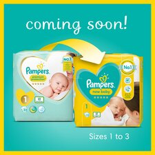 image 2 of Pampers New Baby Size 1 Jumbo Pack 72 Nappies