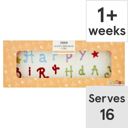 Stupendous Tesco Happy Birthday Cake Tesco Groceries Personalised Birthday Cards Paralily Jamesorg