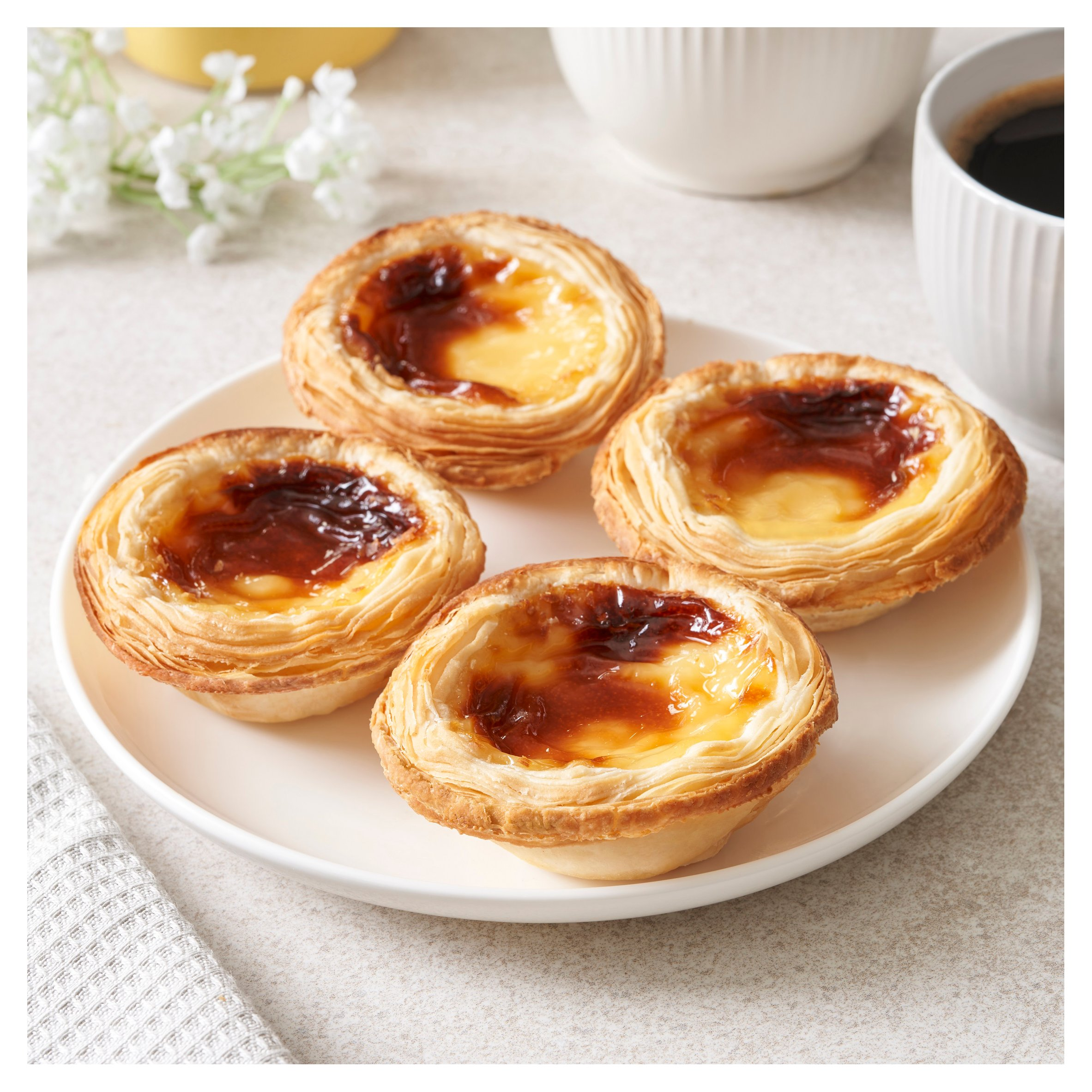 Tesco Portuguese Custard Tart 4 Pack