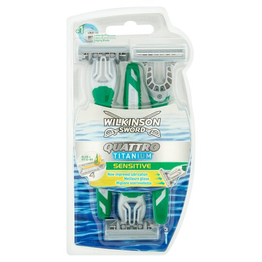 Wilkinson Sword Quattro Precision Disposable Sensitive Razor 3 Pack