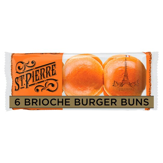 St Pierre 6 Brioche Burger Buns