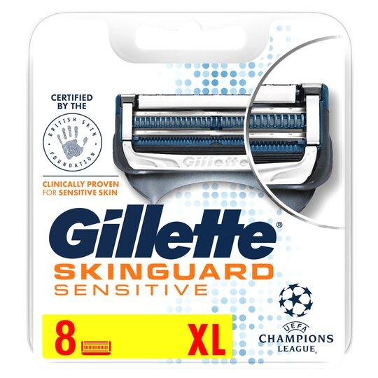 image 1 of Gillette Skinguard Sensitive Blades Refill 8 Pack