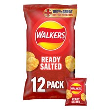 image 1 of Walkers Ready Salted Crisps 12 X 25G