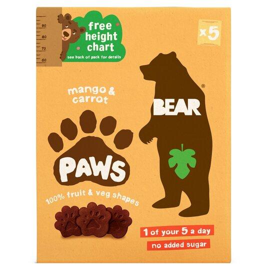 Bear Mango & Carrot Paws 5X20g