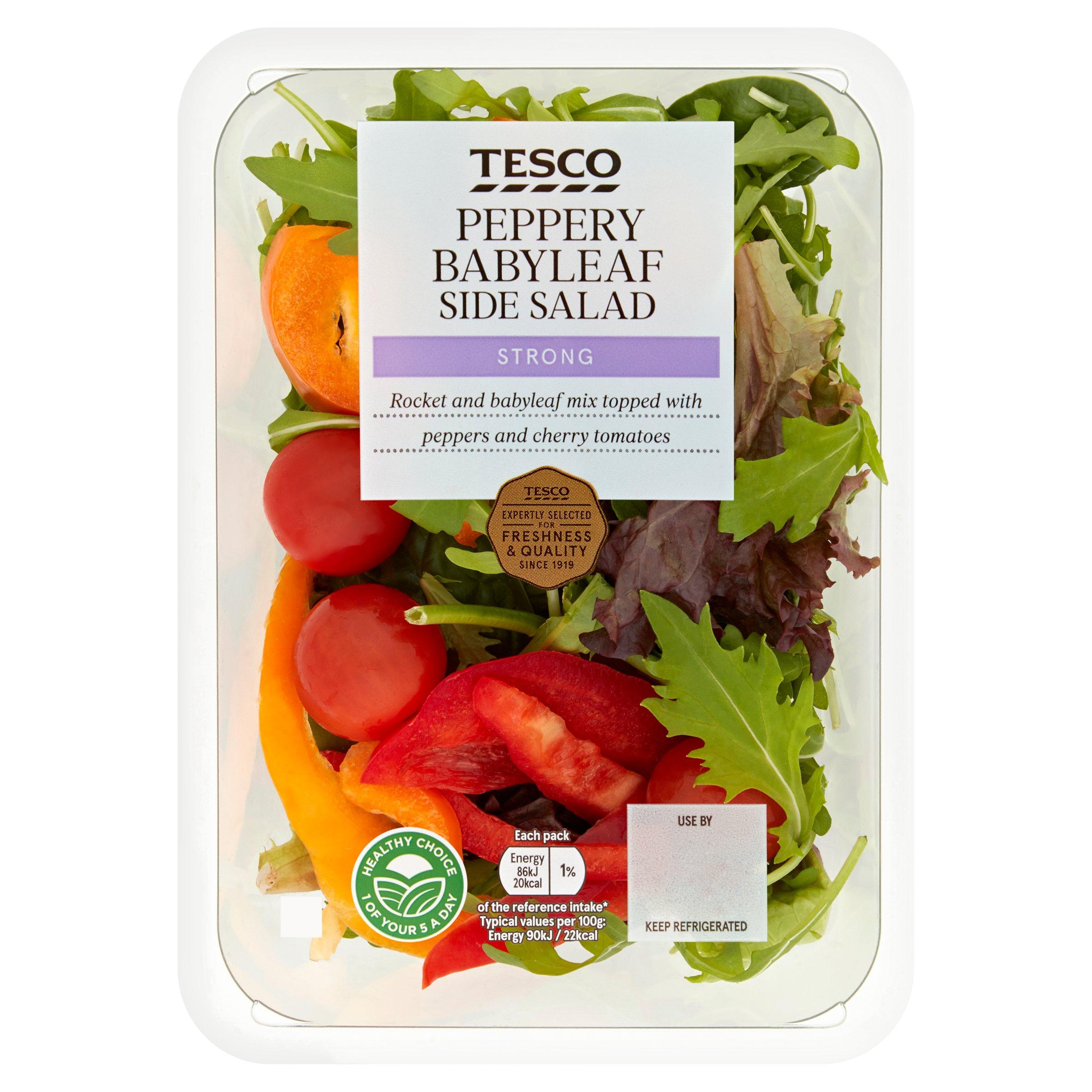 Tesco Peppery Babyleaf Salad Bowl 95G