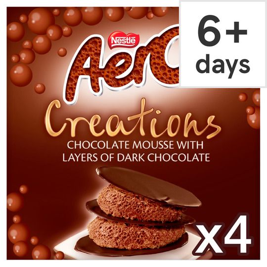 Aero Creations Chocolate Mousse 4X57g