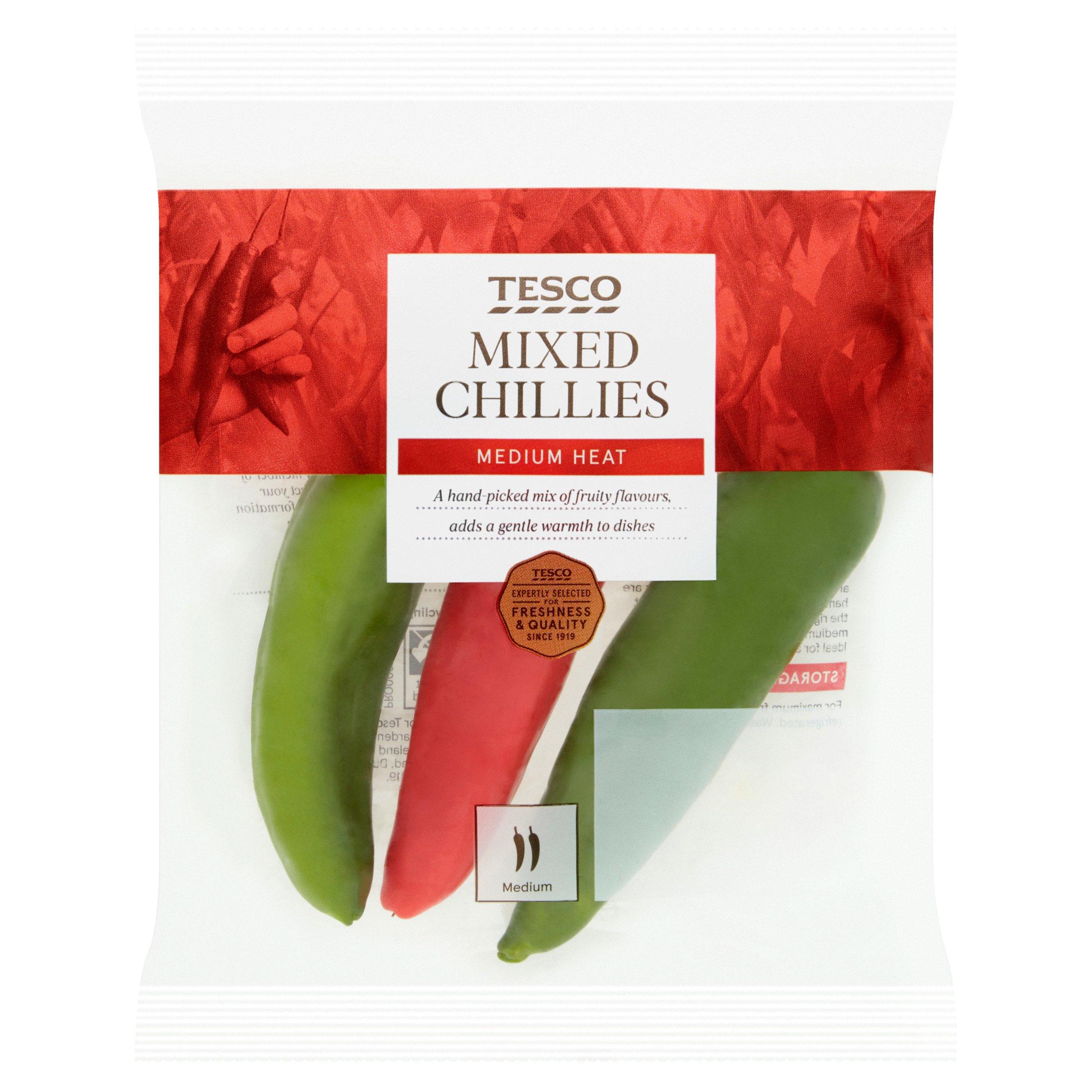 Tesco Mixed Chillies 65G