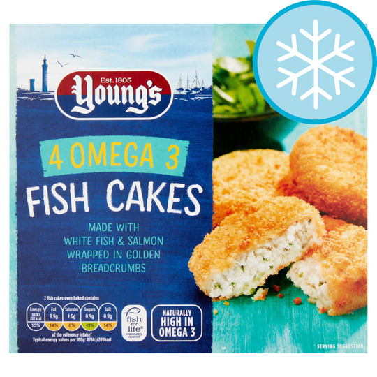 Youngs 4 Omega 3 Fish Cakes 200G