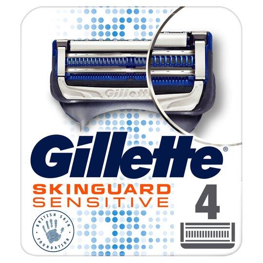 image 1 of Gillette Skinguard Sensitive Blades Refill 4 Pack