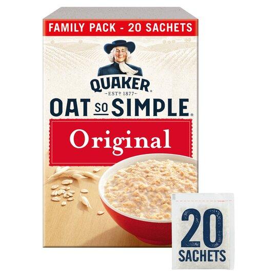 image 1 of Quaker Oat So Simple Original Porridge Sachet 20X27g