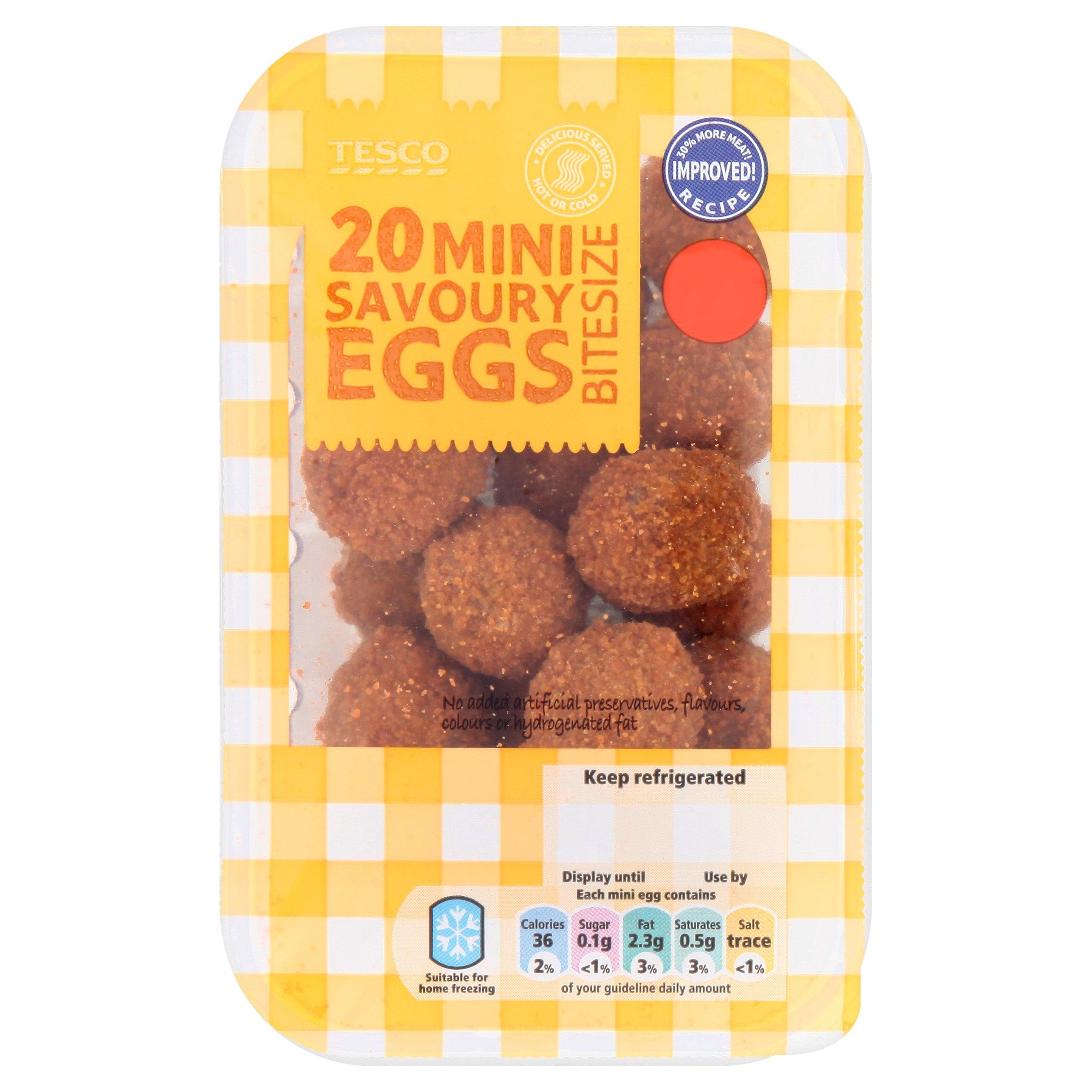 Tesco 18 Bitesize Mini Savoury Eggs 216G