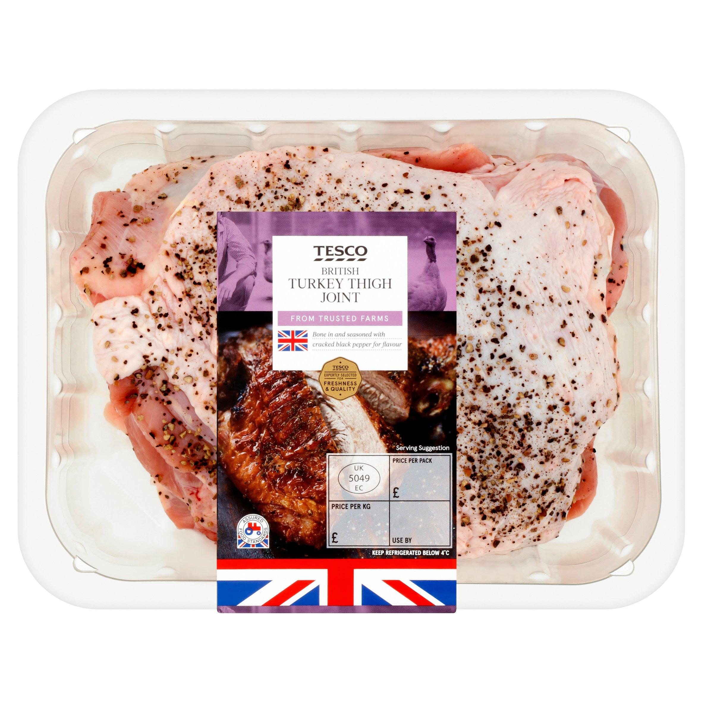 Tesco Turkey Bone In Thigh Joint 1.25Kg