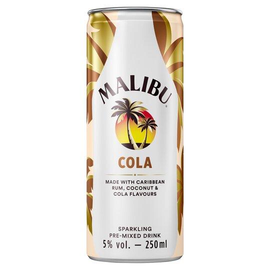Malibu & Cola 250Ml - Tesco Groceries