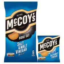 image 2 of Mccoy's Salt & Malt Vinegar Crisps 6X25g