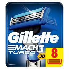 image 1 of Gillette Mach 3 Turbo Razor Blades Refill 8 Pack