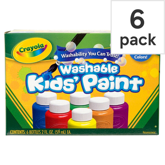 Crayola Washable Paint Pots 6 Pack
