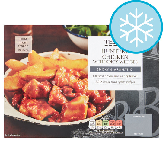 Tesco Hunter's Chicken With Spicy Wedges 400G