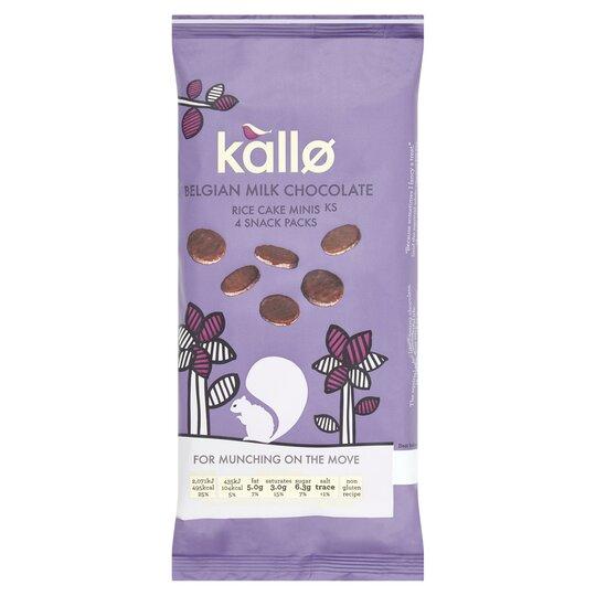Kallo Belgian Milk Chocolate Mini Rice Cakes 4X21g