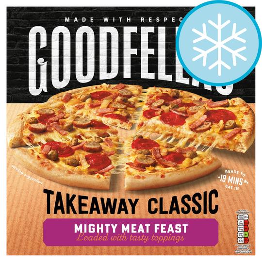 Goodfellas Takeaway Mighty Meat Feast Pizza 570G
