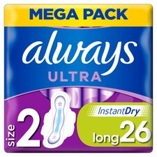 image 1 of Always Ultra Size 2 Sanitary Towels With Wings 26 Pack