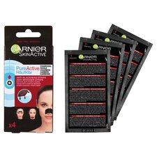 image 2 of Garnier Charcoal Anti-Blackhead Strips 4 Pack