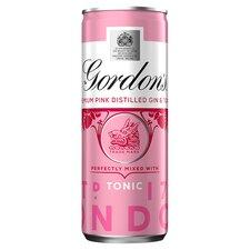 image 1 of Gordon's Pink Gin & Tonic Premix 250Ml