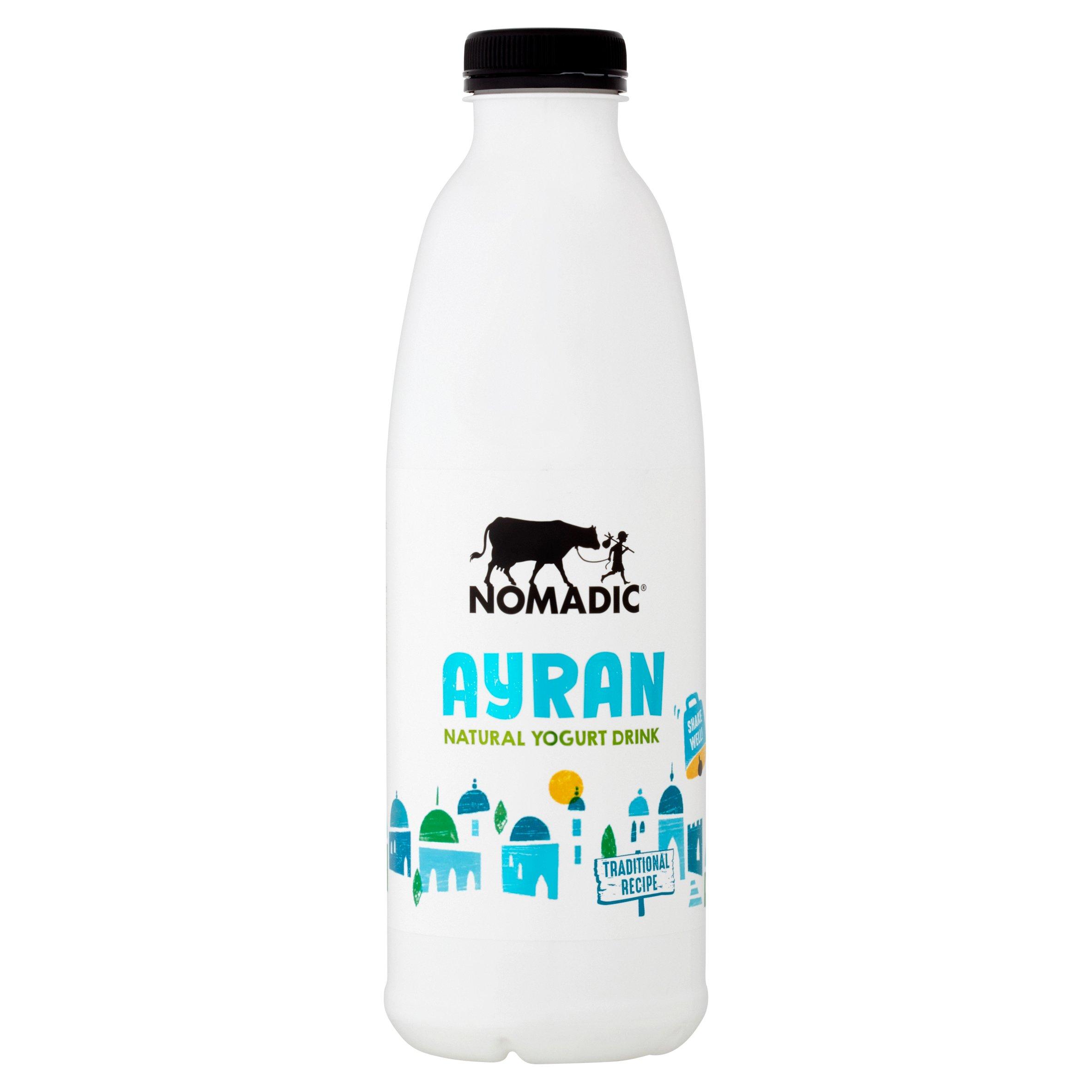 Nomadic Ayran Natural Yogurt Drink 1 Litre