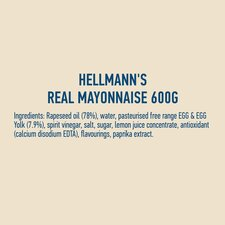 image 2 of Hellmann's Real Mayonnaise 600G Jar