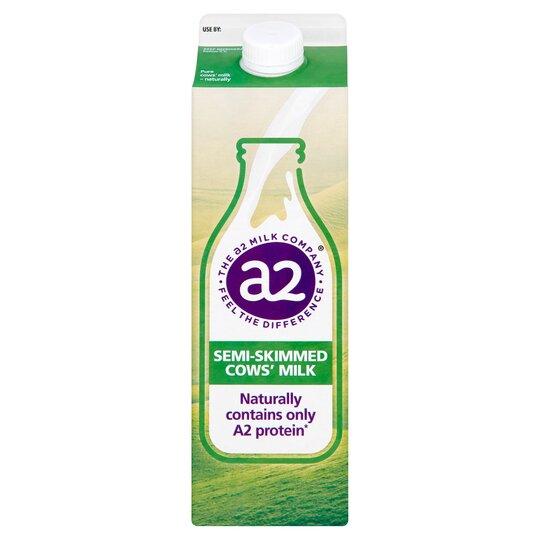 A2 Milk Semi Skimmed 1 Litre